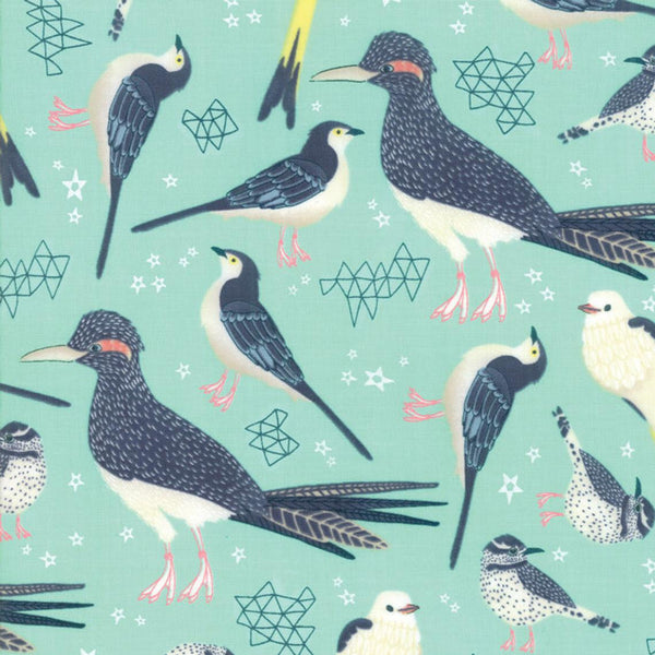 Desert Song Birds Cotton Fabric Moda Mara Penny By the Yard