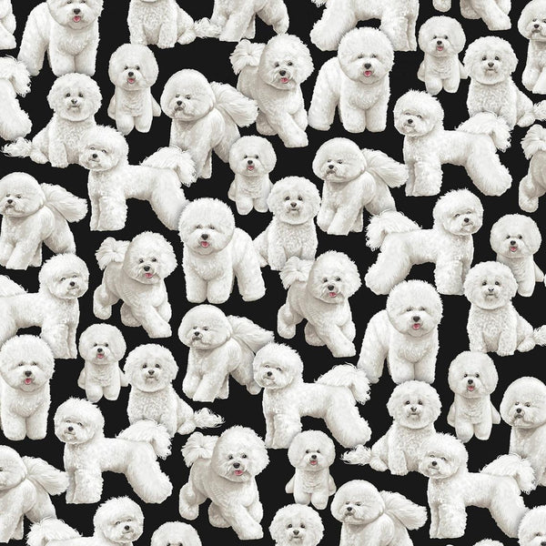 Bichon Frise  Dog Cotton Fabric Timeless Treasures Dog By the Yard