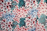 Chiffon Fabric Semi Sheer Apparel Fabric Fern & Floral By the Yard