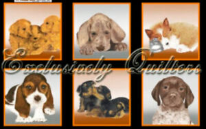 Puppy Love Panel Cotton Fabric Exclusively Quilters