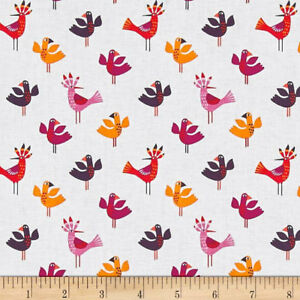 Cuban Beat Bird Cotton Fabric Michael Miller  By the Yard By the Yard