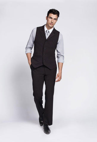Bistro Male Vest W/ Patch Pockets