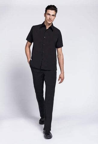 Men's Woven Collar Polo