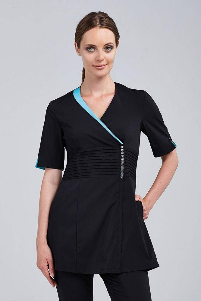 Spa beauty noel asmar uniforms for Spa uniform tops