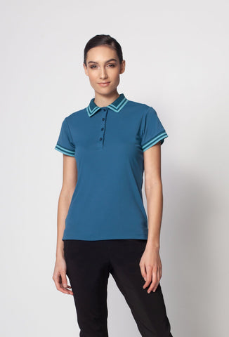 Sustainable Men's Pro Polo with Stripe Collar