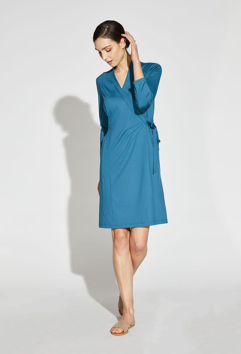 Amari V-Neck Faux Wrap Dress