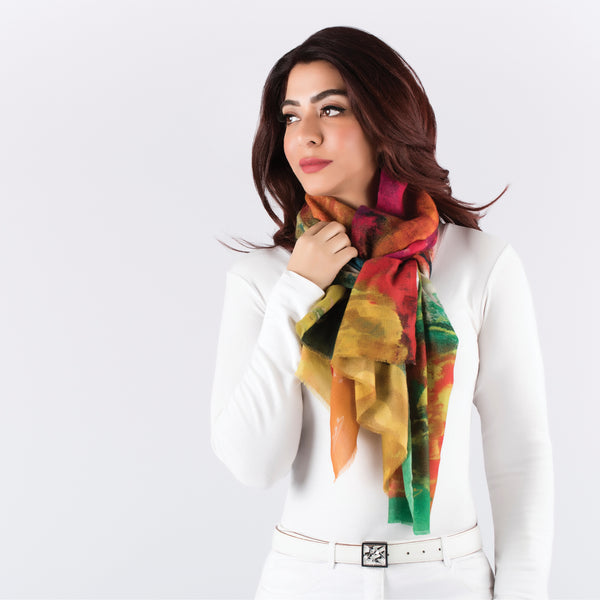 Beautiful Flowers - Long Scarf (Cashmere)