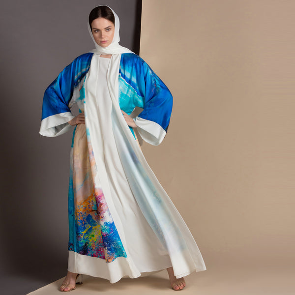 Remember me dearly - Signature Reversible Abaya (Off White)