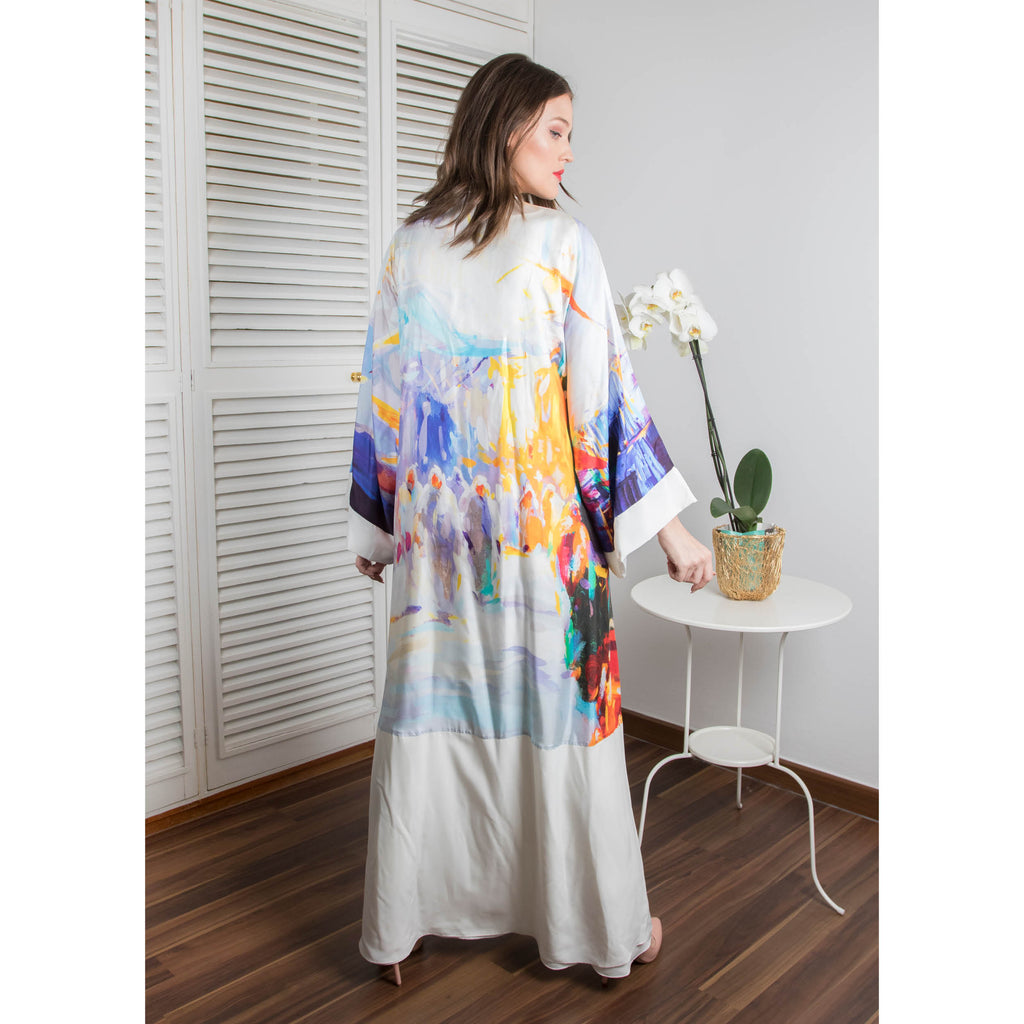 A Memory In Time - Signature Reversible Abaya (Off White)