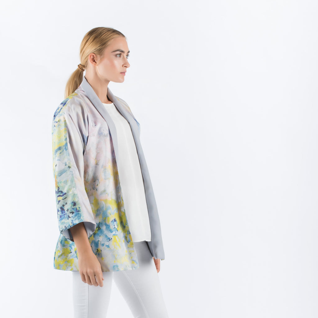 How To Completely Disappear - Reversible Kimono Cardigan (Light Grey)