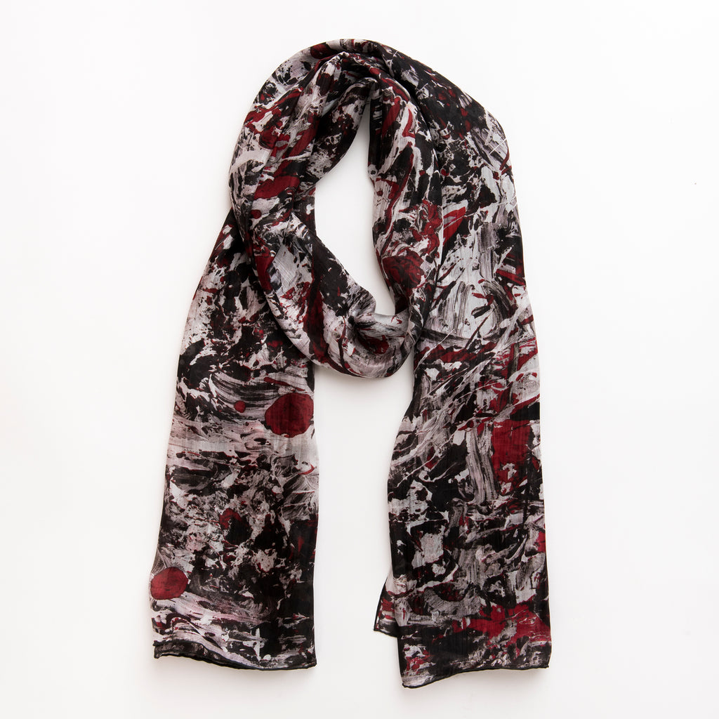 Roses - Long Scarf (Silk Voile)