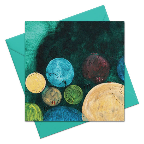 16 Moons - Greeting Card