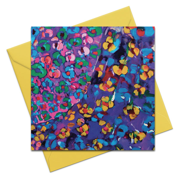 Spring Is Here - Blue - Greeting Card