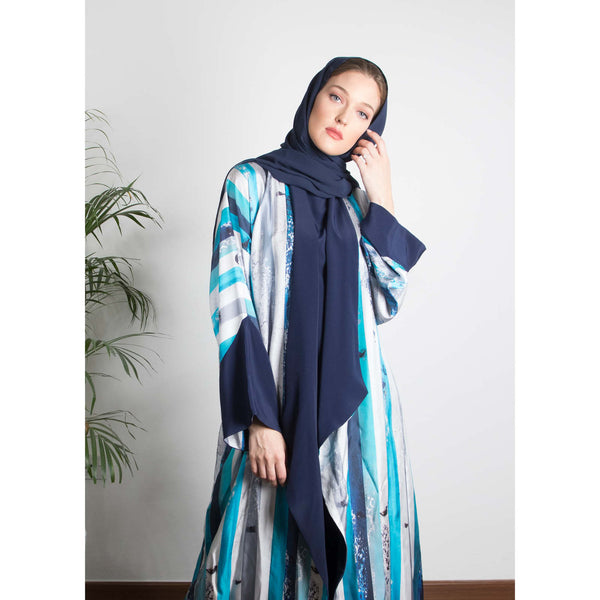 The (I) in Me - Draped - Full Art Abaya (Navy)