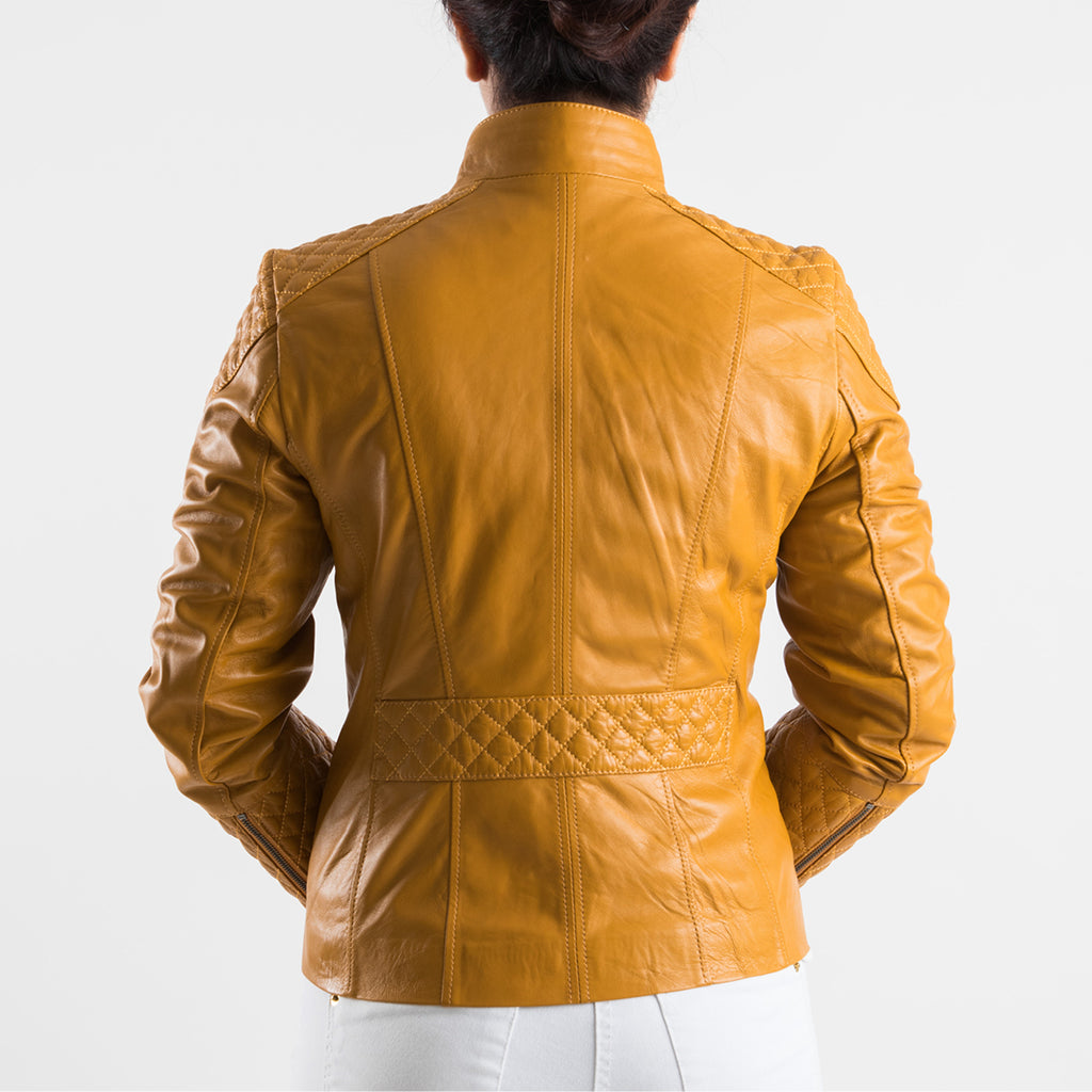 One In A Million - Leather Jacket (Mustard)