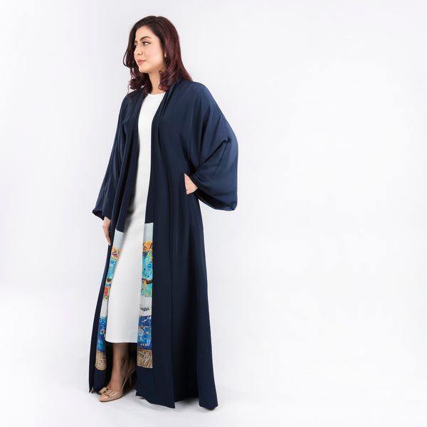 Blue Sea - Signature Reversible Abaya (Navy)