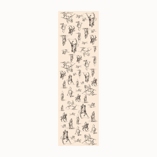 Studies of A Horse and Rider - Long Scarf (Silk Voile)