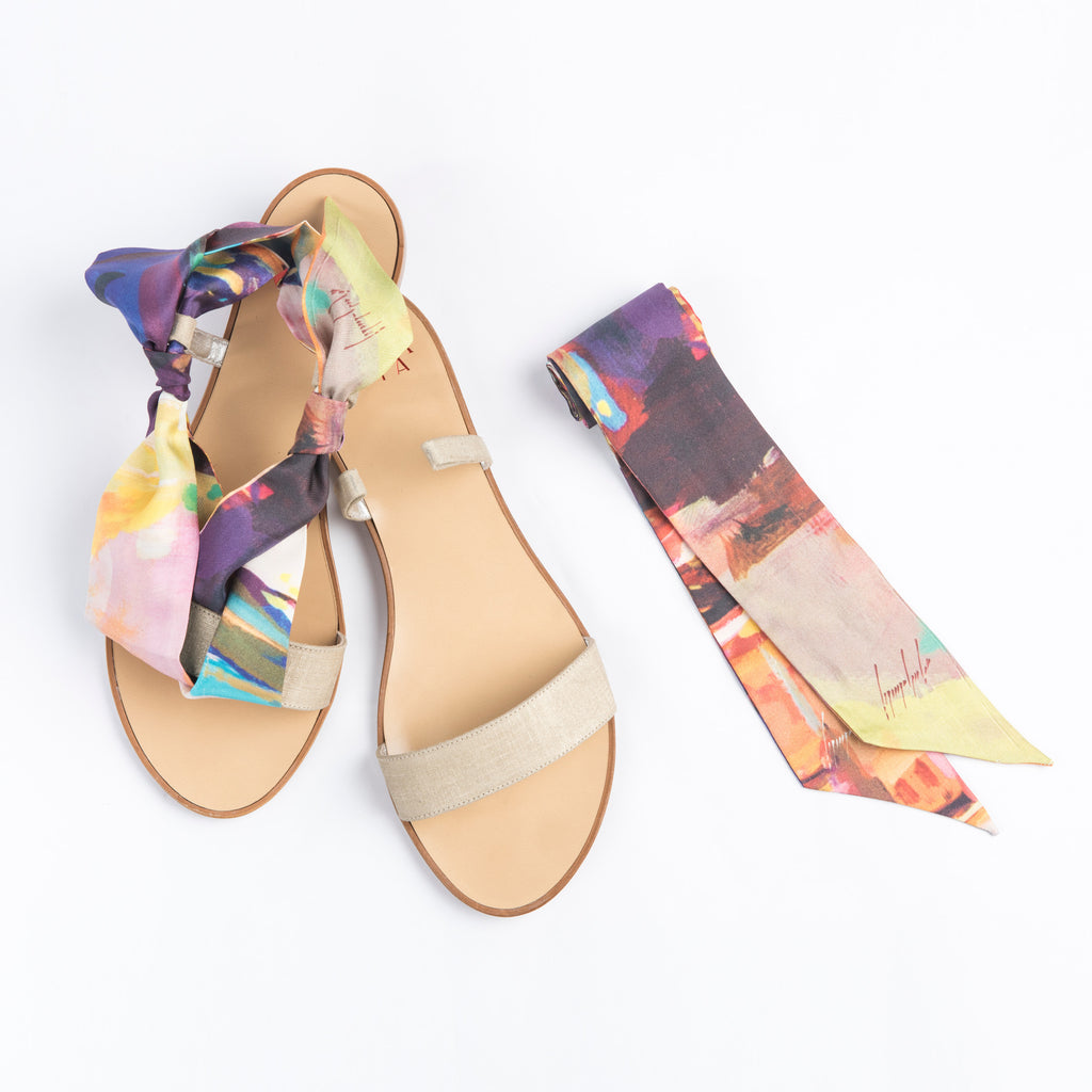 Seasons - Gold Flat Sandals