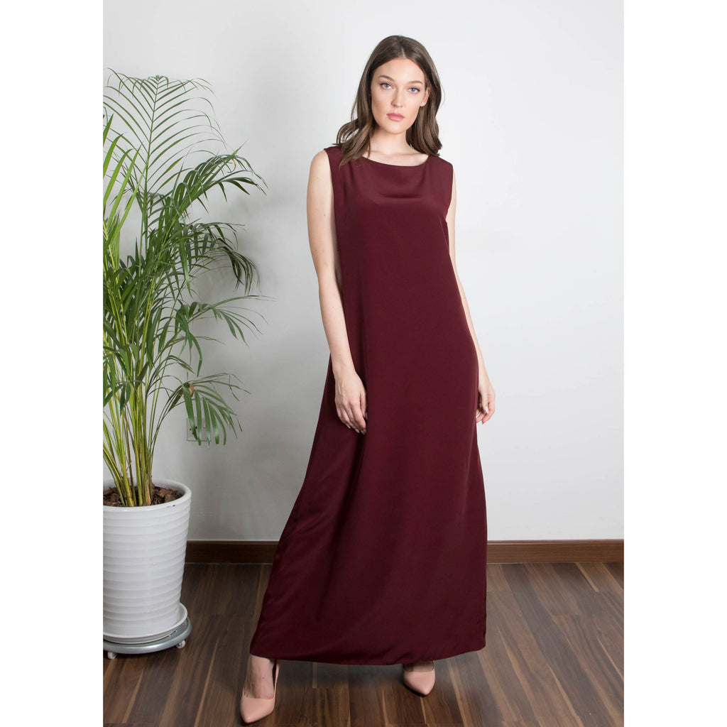Abaya Dress (Maroon)