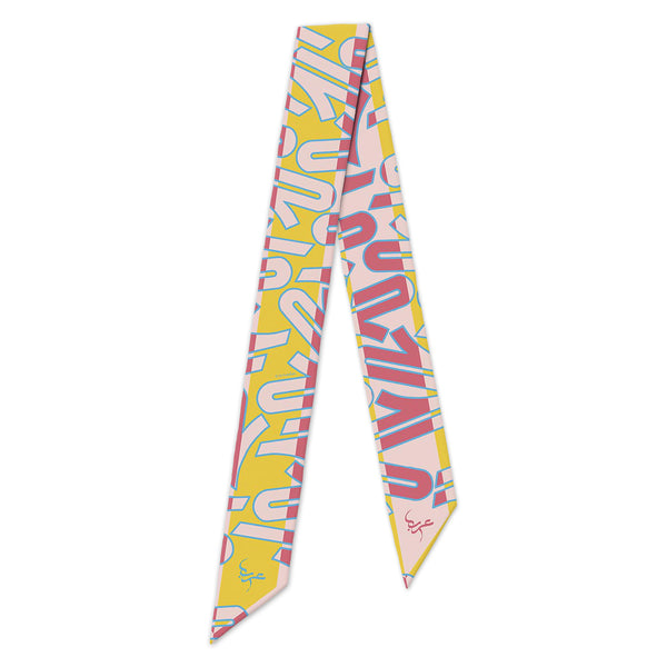 The Letter Ha'a - Pink - Slim Scarf