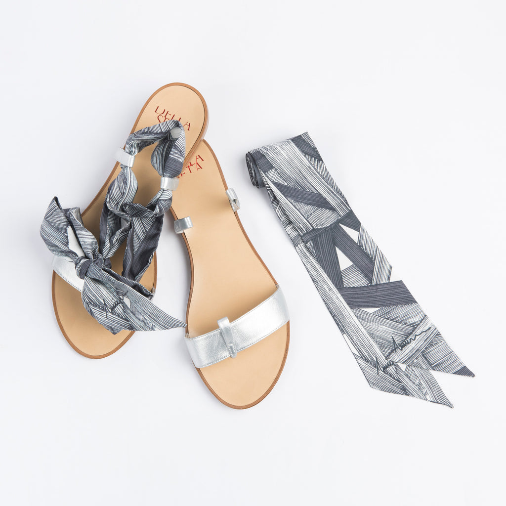 Her Story - Silver Slip On Sandals