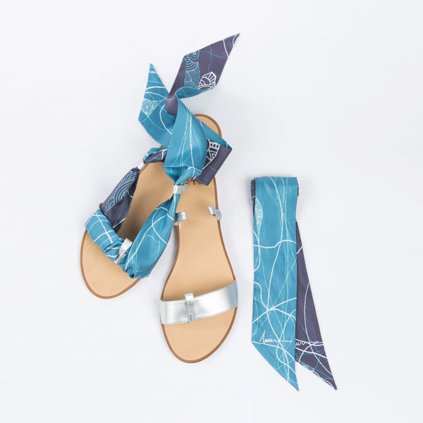 Joyous Return - Silver Slip On Sandals