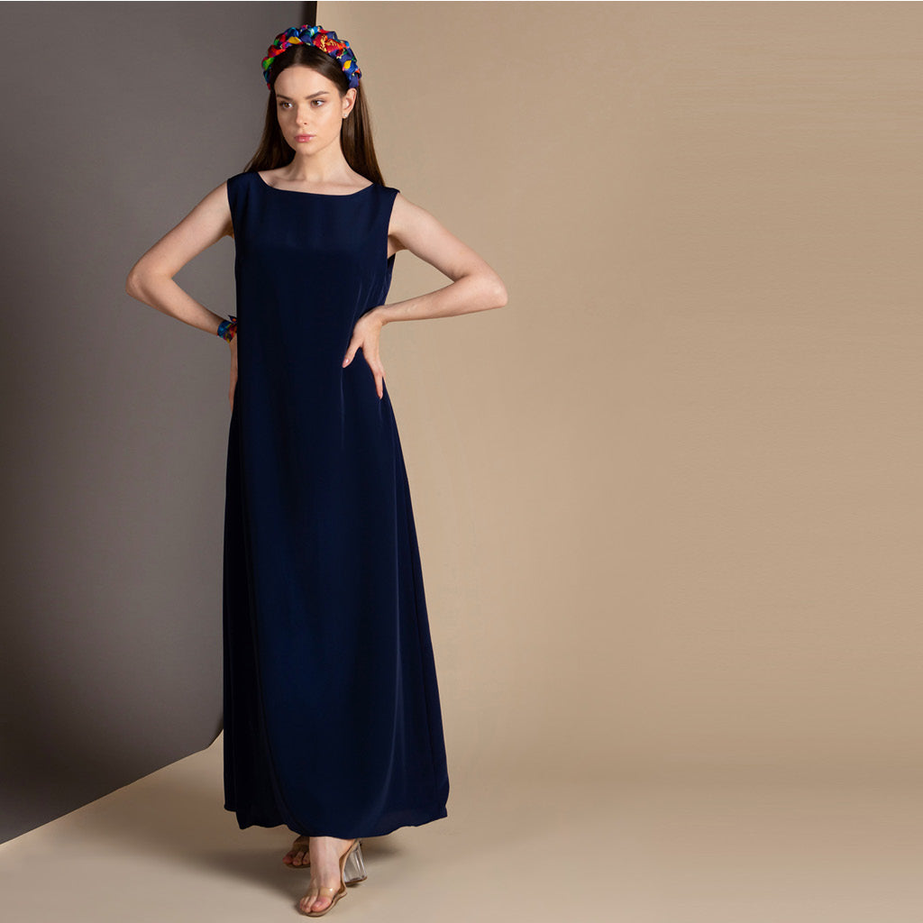 Abaya Dress (Navy)