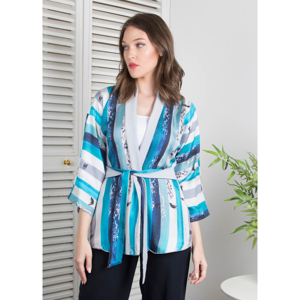 The (I) in Me -  Reversible Kimono Cardigan (Gray)