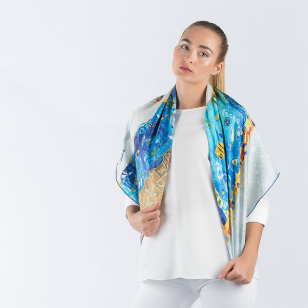 Blue Sea - Square Scarf