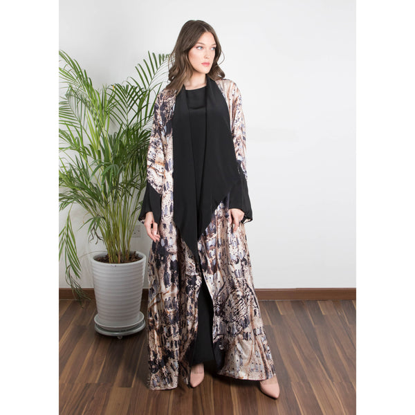 Weaves Of Hope -  Draped - Full Art Abaya (Black)