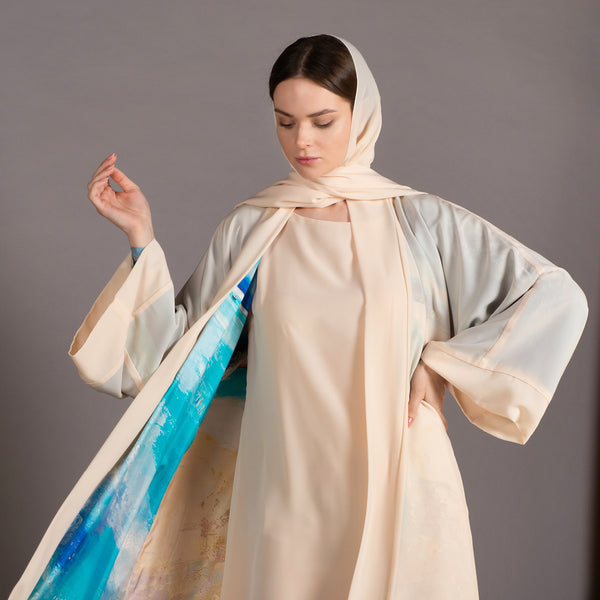 Remember me dearly - Signature Reversible Abaya (Cream)