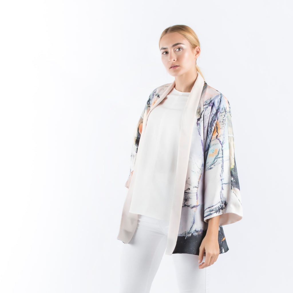 Be My Friend - Reversible Kimono Cardigan (Peach)