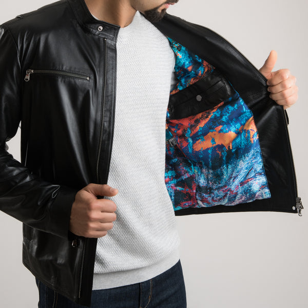 Pulse of Inspiration - Leather Jacket (Black)