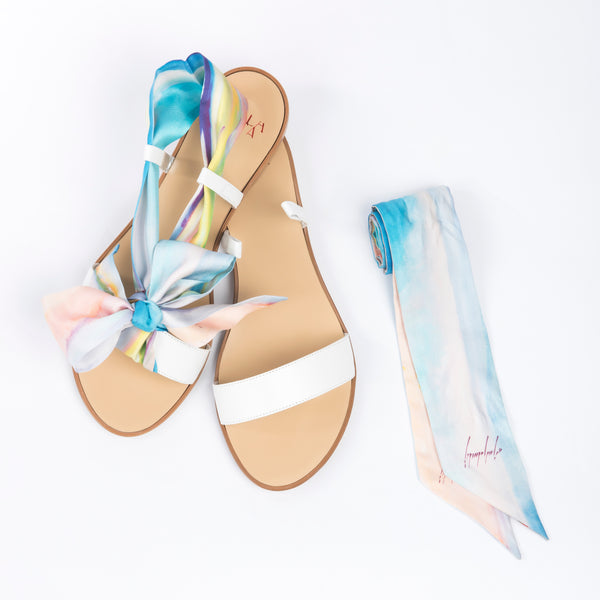 Oasis - White Flat Sandals