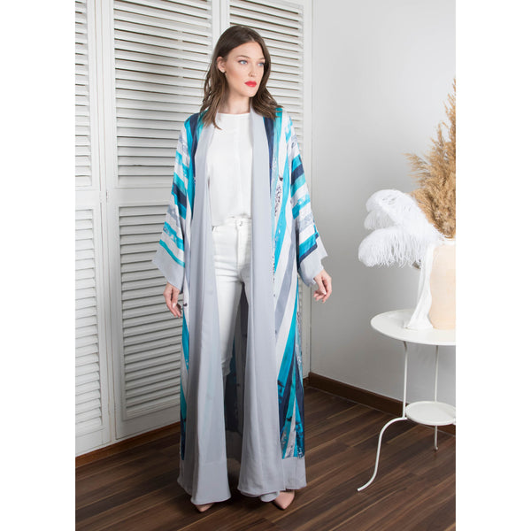The (I) in Me - Signature Reversible Abaya (Gray)