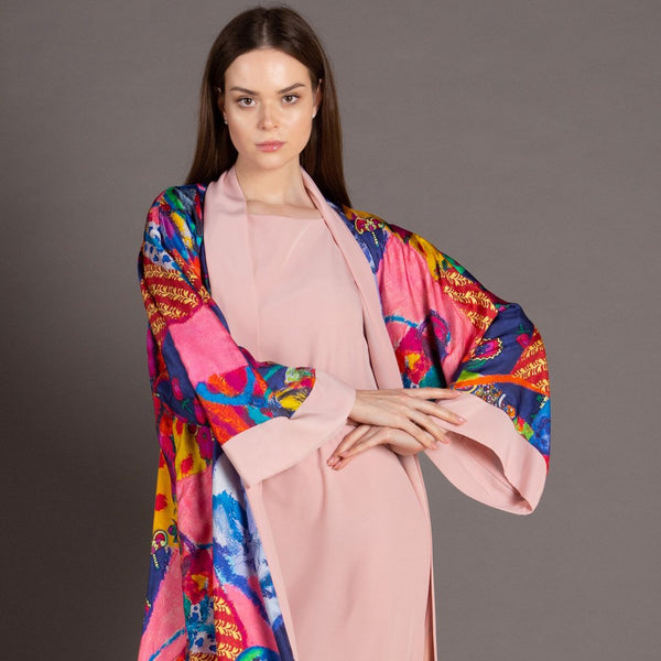 White Rainbow - Signature Reversible Abaya (Pink)