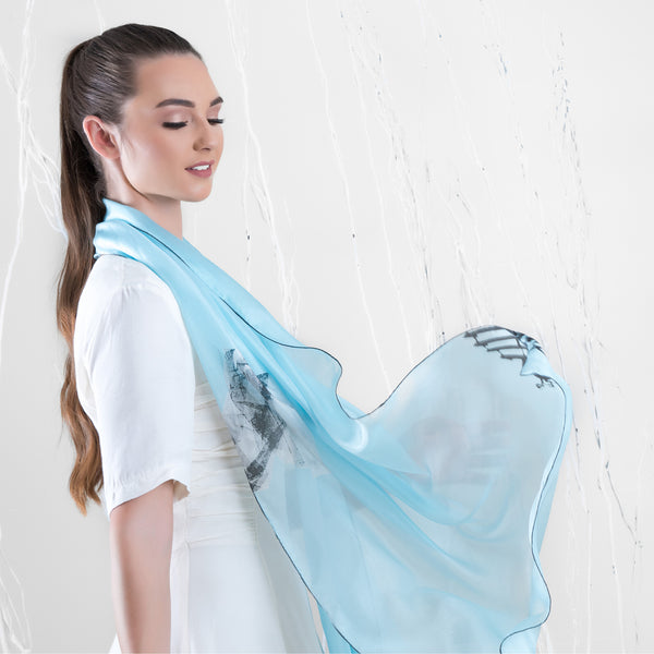 Freedom - Long Scarf (Silk Voile)