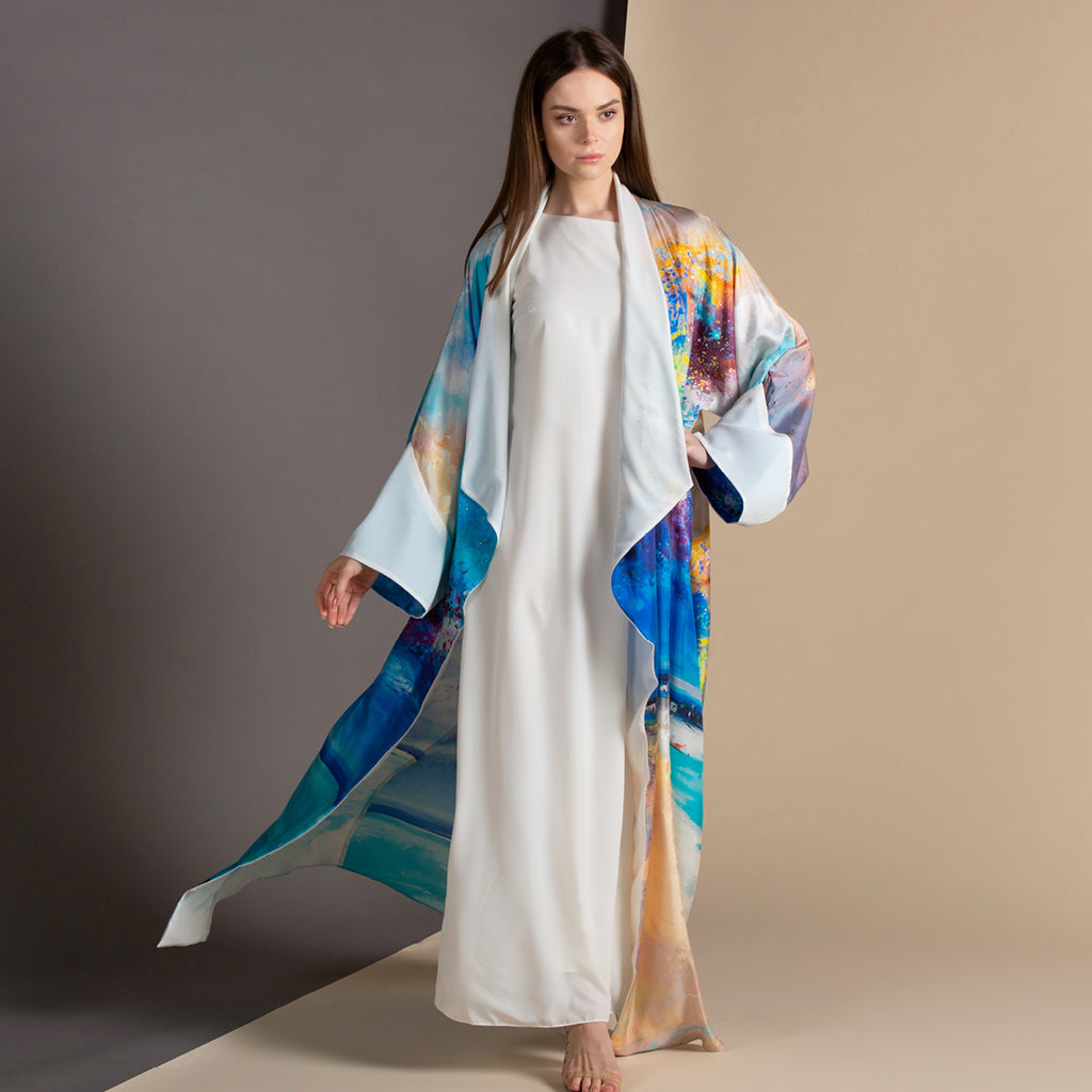Remember Me Dearly - Draped - Full Art Abaya (Off White)