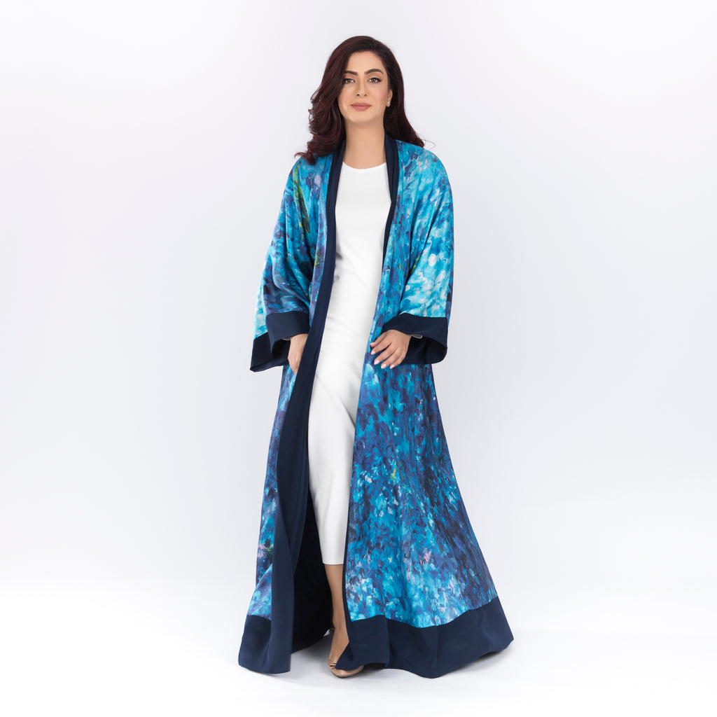 Iris - Signature Reversible Abaya (Navy)