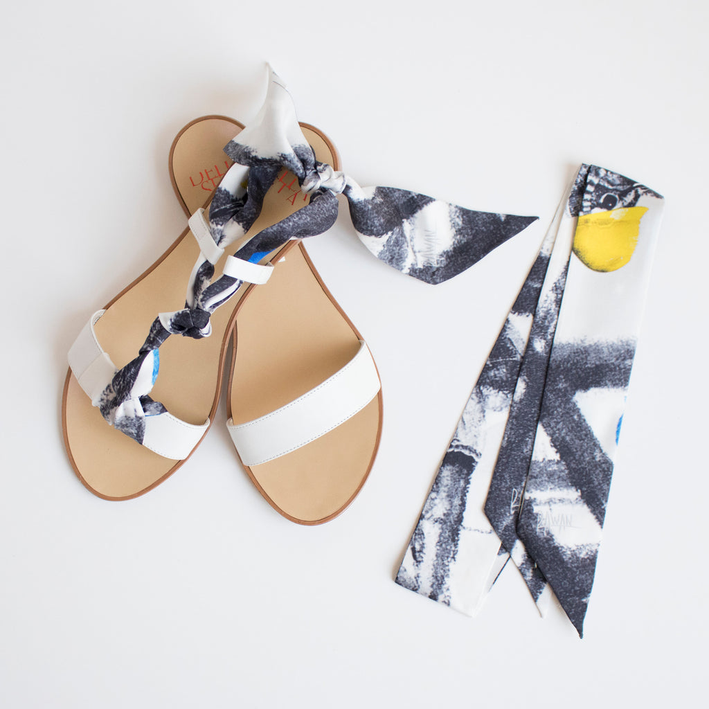 Birds of The Future  - White Flat Sandals