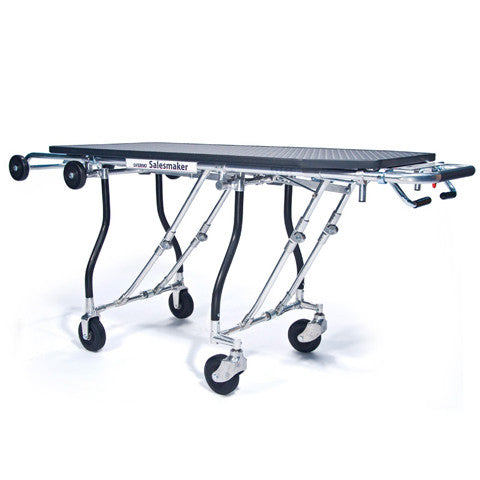 "289 Easy Loader gurney style folding cart with 50"" platform and 300 pound load capacity - Salesmaker Carts"