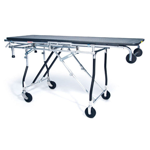 "290 Heavy Duty gurney style folding cart with 65"" platform and 300lb capacity - Salesmaker Carts"