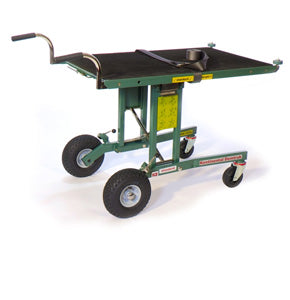 Pneumatic Demtruk Folding Cart with Roll-Off Platform 500 pound load capacity and oversized pneumatic tires - Salesmaker Carts