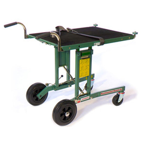 "Demtruk 500lb Capacity Folding Cart with 33"" Roll-Off Platform - Salesmaker Carts"
