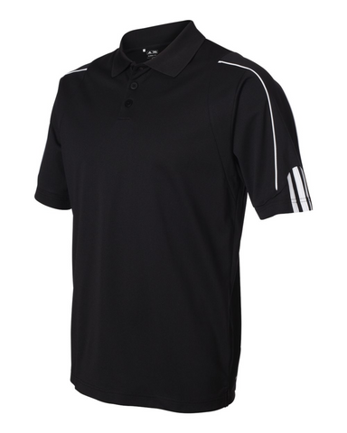 Adidas Climalite Men's Golf Shirt 3-Stripes Cuff Polo