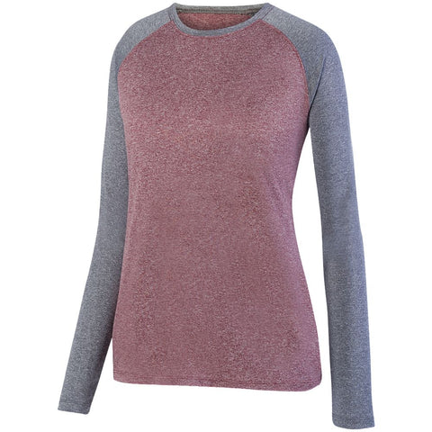 Augusta Ladies Kinergy Two Color Long Sleeve Raglan Top