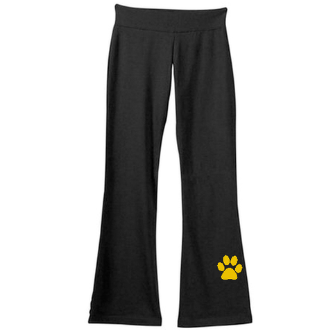 Yoga Pants With Paw Embroidery on calf