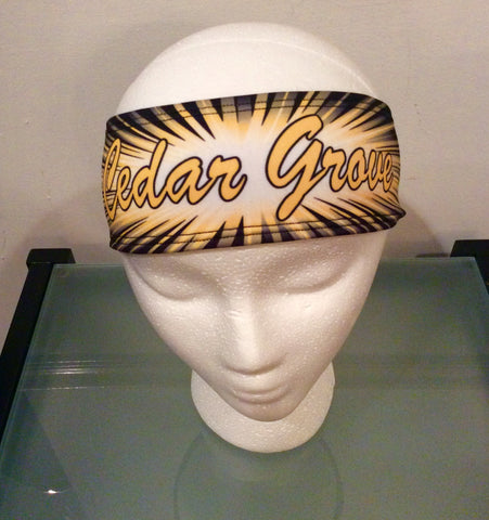 Sublimated Reversible 'Cedar Grove' Headband
