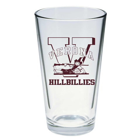 "Pint Glass- ""Verona Hillbillies"""
