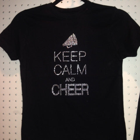 Keep Calm and Cheer Bling T-Shirt